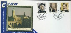 Luxembourg Grand Duchy EURO currency 1st postal stamps 2001 BENHAM silk cover refD134 In very good condition for age. Please see larger photo and full description for details.