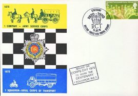 Corps Day 1970 Centenary stamps cover 1 Squadron R.C.T. British Forces Postal Service refD292 In very good condition. Please see larger photo and full description for details.