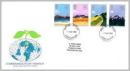 1983-03-09 Commonwealth Day Stamps FDC fdi Lancashire refE213 Cover in good condition. Please see larger photo and full description for details.
