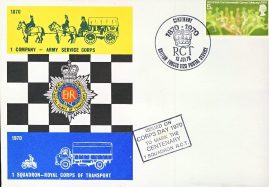 1870 1 Company Army Service Corps Centenary RCT stamps cover refD293 In very good condition. Please see larger photo and full description for details.