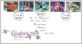 1983-11-16 Christmas Stamps FDC fdi Blackpool Wyre Fylde refE214 Cover in good condition. Please see larger photo and full description for details.