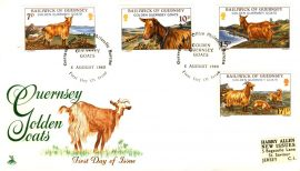 1980 Guernsey Golden Goats stamps cover Mercury  refE101102 Cover in Good condition. Unsealed no insert card. Please see larger photo and full description for details.