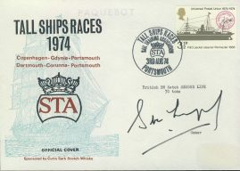 1974 Tall Ships Race SIGNED STA official cover PORTSMOUTH Copenhagen Gdynia Darmouth Corunna refd0015 In very good condition for age. Please see larger photo and full description for details. Unsealed no insert card. Address label mark.