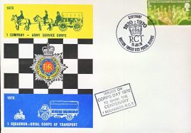 1 Company Army Service Corps British Forces Centenary stamps cover 1970 refD299 In very good condition. Please see larger photo and full description for details.