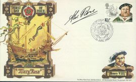 Signed 1982 Mary Rose PORTSMOUTH King Henry VIII first day cover refd0018 In very good condition for age. With an interesting parchment effect to paper. Please see larger photo and full description for details. Unsealed with insert card.