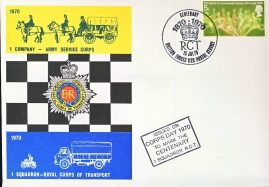 1970 British Forces Postal Service R.C.T. Army numbered centenary stamps cover refD296 In very good condition. Please see larger photo and full description for details.