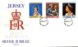 1977 Silver Jubilee Jersey stamps First Day Cover refE101110 Cover in Good condition. Unsealed with insert card. Please see larger photo and full description for details.