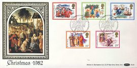 Christmas story stamps postmarked BETHLEHEM 1982 silk picture cover BLS8 Benham refD147 In very good condition. With Insert Card. Please see larger photo and full description for details.
