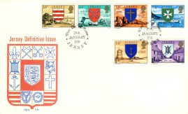 1976 Jersey Definitive Issue stamps First Day Cover refE101111 Cover in Good condition. Unsealed with insert card. Please see larger photo and full description for details.
