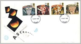 1990-10-16 Astronomy Stamps FDC Salisbury postmark fdi refE225 Cover in good condition. Please see larger photo and full description for details.