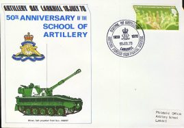 1970 British Forces 1125 1970 stamps cover Artillery School ABBOT Field Gun refD301 In very good condition. Please see larger photo and full description for details.