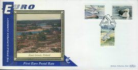 Finland ALAND ISLANDS EURO currency 1st postal stamps 2000 BENHAM silk cover refD124 In very good condition for age. Please see larger photo and full description for details.
