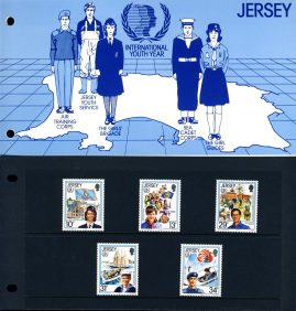 Jersey International Youth Year Stamps Presentation Pack refE101090 Stamps in very good condition. Please see larger photo and full description for details.