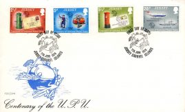1974 Jersey Channel Islands Centenary of Universal Postal Union FDC stamps Cover refE101116 Cover in Good condition. Unsealed with insert card. Please see larger photo and full description for details.
