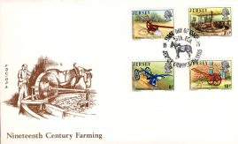 1975 Jersey Channel Islands 19thC Farming stamps FDC Horse shs refE101117 Cover in Good condition. Unsealed with insert card. Please see larger photo and full description for details.