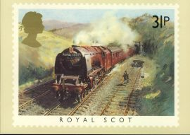 1985 Royal Scot PHQ stamp postcard Euston Station London FAMOUS TRAINS refd0027 In very good condition for age. Please see larger photo and full description for details. Unsealed.