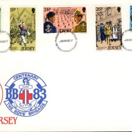 1982 Jersey Scouts and the Boy's Brigade first day of issue stamps cover refE101123 Cover in Good condition. Unsealed with insert card. Please see larger photo and full description for details.