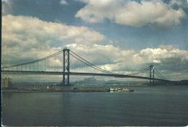 Commemorating the Opening of the Forth Road Bridge Edinburgh Stamped Postcard refd0030 In good condition for age with creases. Please see larger photo and full description for details.