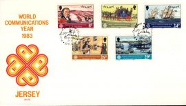 1983 World Communications Year Jersey stamps First Day Cover refE101124 Cover in Good condition. Unsealed with insert card. Please see larger photo and full description for details.