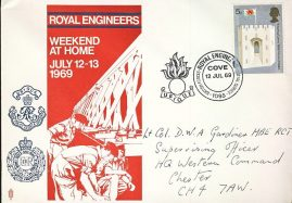 1969 Royal Engineers UBIQUE British Forces Post Service COVE stamp cover refD311 In good condition for age. Please see larger photo and full description for details.