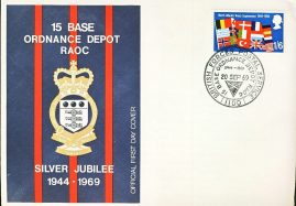 15 Base Ordnance Depot RAOC Siler Jubilee Official FDC stamp cover refD313 In very good condition for age. Please see larger photo and full description for details.