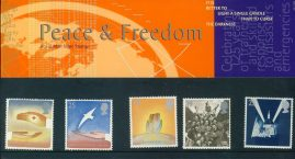 2nd May 1995 Peace & Freedom mint stamps presentation pack refD100032 Please see larger photo and full description for details. Unused stamps.