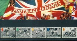 14th May 1996 Football Legends mint stamps presentation pack refD100033 Please see larger photo and full description for details. Unused stamps.