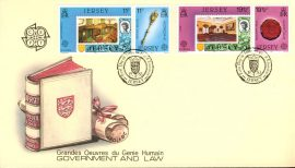 19th April 1983 Jersey Government and Law stamps First Day Cover CEPT refE101127 Cover in Good condition. Unsealed with insert card. Please see larger photo and full description for details.