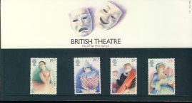 28th April 1982 British Theatre mint stamps presentation pack refd858 Please see larger photo and full description for details. Unused stamps.