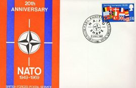 NATO SHAPE postmarked British Forces Postal Service 1081 1969 stamp cover refD321 In very good condition. Please see larger photo and full description for details.