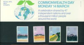 9th March 1983 Commonwealth Day mint stamps presentation pack refd854 Please see larger photo and full description for details. Unused stamps.
