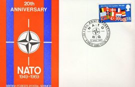 2nd April 1969 North Atlantic Treaty Organisation 1949-1969 stamp cover NATO HQrefD323 In very good condition. Please see larger photo and full description for details.