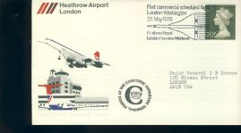 1976 CONCORDE first flight London Heathrow to Washington souvenir cover refd004 In very good condition for age. Please see larger photo and full description for details. Unsealed with insert card.