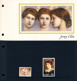 Jersey Lilies 1986 Stamps Presentation Pack refE101091 Stamps in very good condition. Please see larger photo and full description for details.