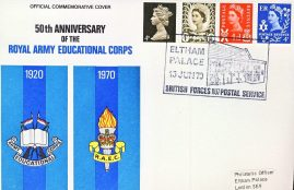 Royal Army Educational Corps 1970 British Forces Postal Service 1107 stamp cover refD324 In very good condition. Please see larger photo and full description for details.