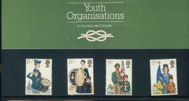 24th March 1982 Youth Organisations mint stamps presentation pack refd3207 Please see larger photo and full description for details. Unused stamps.