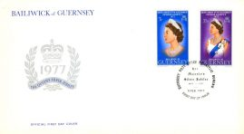 1977 Queens Silver Jubilee Guernsey stamps Official First Day Cover refE101137 Cover in Good condition. Unsealed with insert card. Please see larger photo and full description for details.