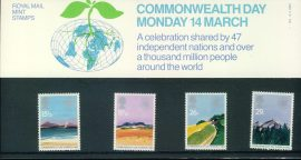 14th March 1983 Commonweath Day mint stamps presentation pack refd3203 Please see larger photo and full description for details. Unused stamps.