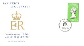 28 June 1978 Visit of HM The Queen to Guernsey stamps Official FDC refE101138 Cover in Good condition. Unsealed with insert card. Please see larger photo and full description for details.