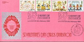 St. Valentine's Day Exhibition Newarke Houses LEICESTER Ltd Edition stamps cover official LFDC refD1775 In very good condition. With Insert Card. Please see larger photo and full description for details.