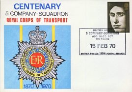1970 Royal Corps of Transport 5 Company Squadron BRITISH FORCES 1104 POSTAL SERVICE stamp cover refD330 Numbered inside flap. In very good condition. Please see larger photo and full description for details.