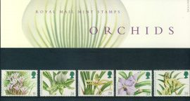 16th March 1993 ORCHIDS mint stamps presentation pack refd100035 Please see larger photo and full description for details. Unused stamps.
