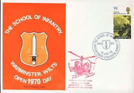 Warminster School of Infantry Open Day 1970 ALOUETTE XR.382 Army Air Corps stamp cover refD332 In very good condition. Please see larger photo and full description for details.