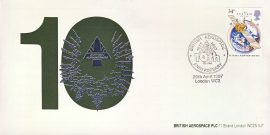 1Oth Anniversary British Aerospace commemorative cover 1987 London refD185 In very good condition. With Insert Card. Please see larger photo and full description for details.
