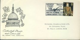 1968 British Olympic Team Departure MEXICO commemorative cover refd007 In very good condition for age. Please see larger photo and full description for details. Unsealed.