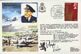 Berlin Blockade 1979 SIGNED limited flown cover Farnborough Templehof BFPO 1641 refD197  In very good condition. With Insert Card. Please see larger photo and full description for details.