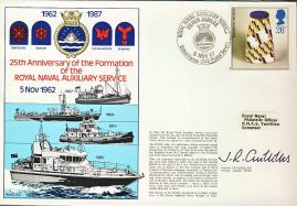 Royal Naval Auxiliary Service British Forces 2146 Postal Service 1987 SIGNED stamp cover refD360 In very good condition. Please see larger photo and full description for details.