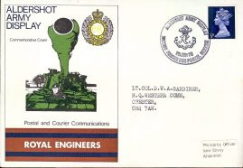 Aldershot Army Display Commemorative Cover 1970 Royal Engineers Postal & Courier Communications refD207 In very good condition. With Blank Insert Card. Please see larger photo and full description for details.