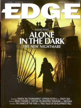 EDGE magazine 'Alone in the Dark:The New Nightmare UK Edition FEB 2000 - Billed as 'The Future of Interactive Entertainment'  r1-5