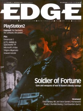 EDGE magazine 'Soldier of Fortune' UK Edition Autumn 1999 Billed as 'The Future of Interactive Entertainment' r1-2